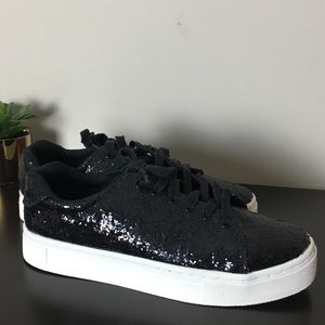 H&M Black Glitter Sneakers